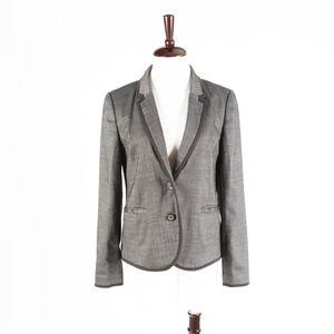 ANN TAYOR LOFT – Gray Chevron Jacket Blazer – 8